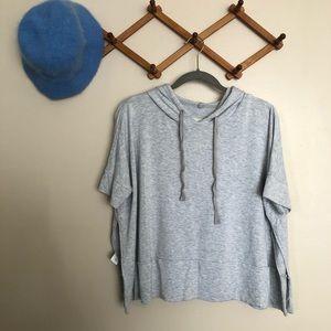 Lou & Grey Short Sleeve Hooded Sweatshirt